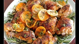 Easy Chicken Recipes -- Herb And Citrus Oven Roasted Chicken Parts Recipe