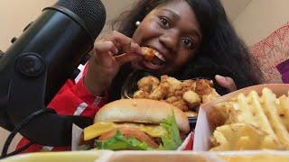 Spicy chicken sandwich W/ nuggets CHICK FIL A MUKBANG |asmr