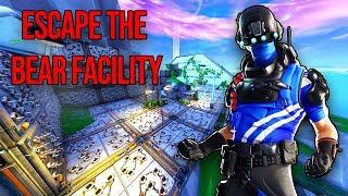 Escape The Bear Facility Fortnite map run through