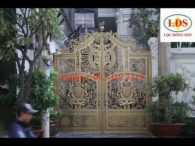 Cổng đúc hợp kim nhôm LỘC ĐÔNG SƠN – Video 12