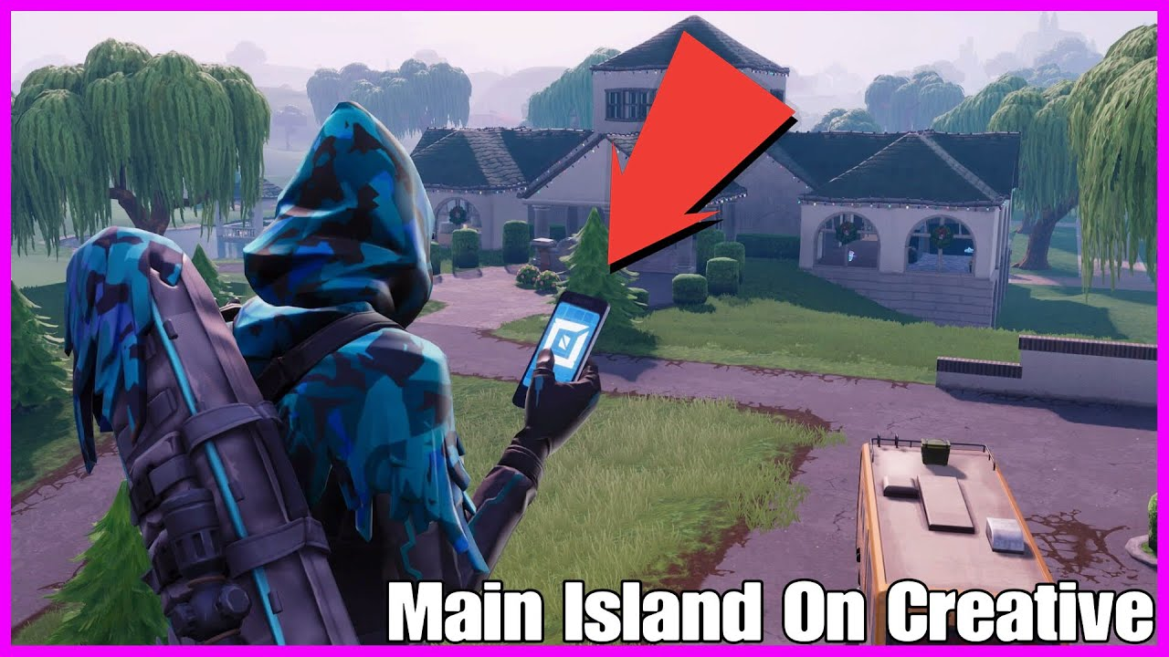Get To The Main Island On Creative Mode With The Phone Easy