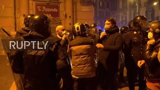 Italy: Protesters confront police at Naples rally against COVID-19 restrictions