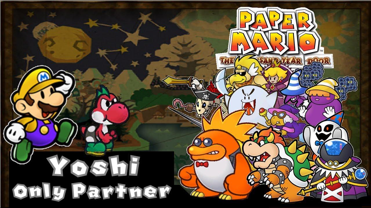 paper mario ttyd all bosses yoshi single partner youtube