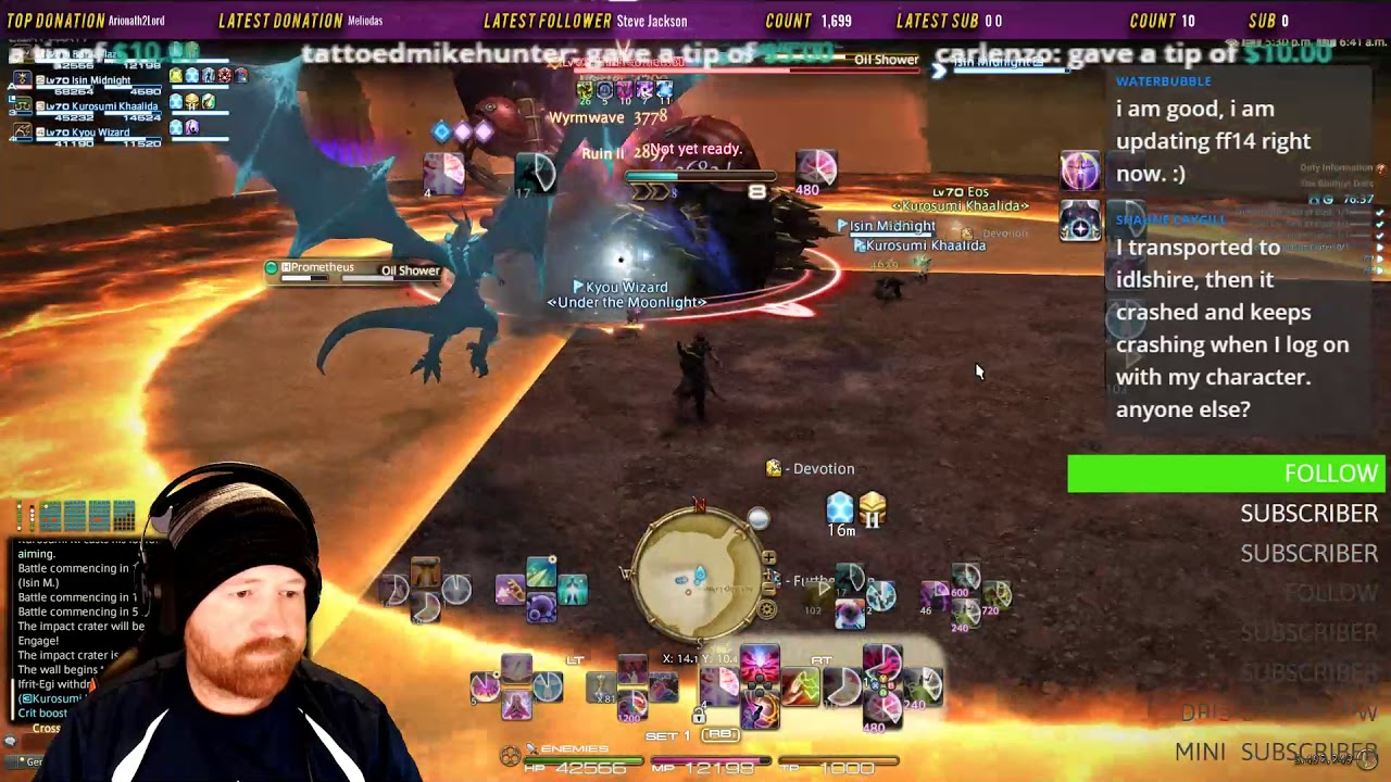 FFXIV Ghimlyt Dark Boss #2 Prometheus First Clear [Patch 4 5] [Patch Day]