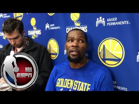 Kevin Durant on Warriors: 'I'm not gonna sit here and let anybody say that we're struggling' | ESPN