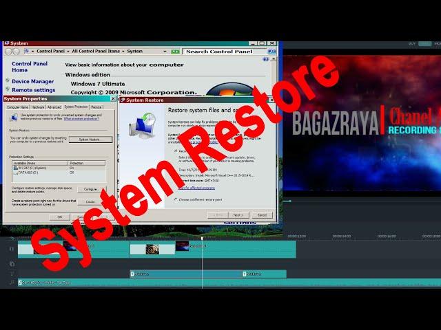 Cara mengatasi Komputer yang Error, kembali normal - System restore