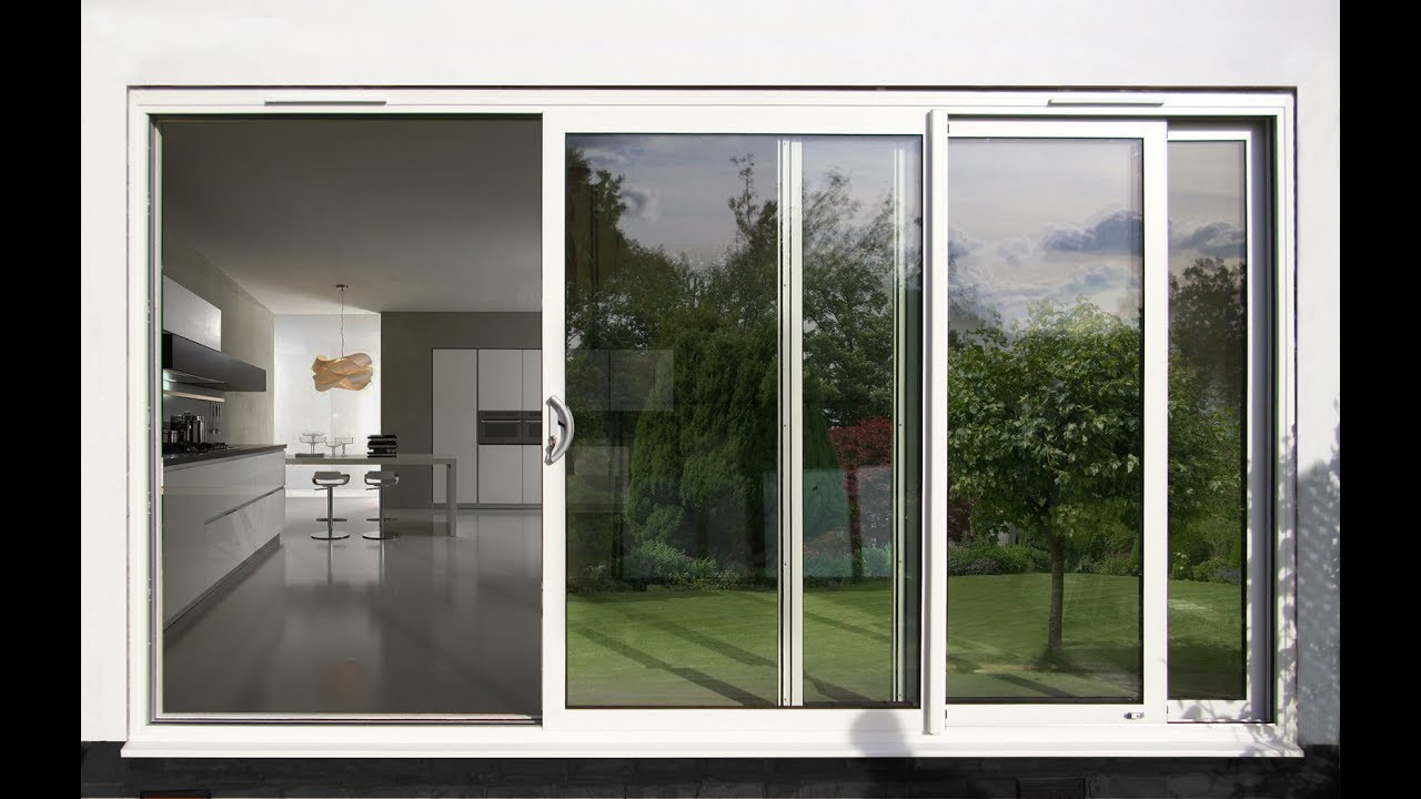 Aluminium Sliding Patio Doors in UK Design - YouTube