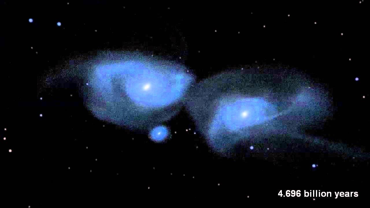 Tabrakan Antar Galaksi Bima Sakti Dengan Galaksi Andromeda   - YouTube