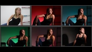 How To Create A Photo Studio Anywhere Using A Snoot And Color Gels