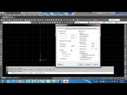 How to Snap setting in Auto cad2015 like...