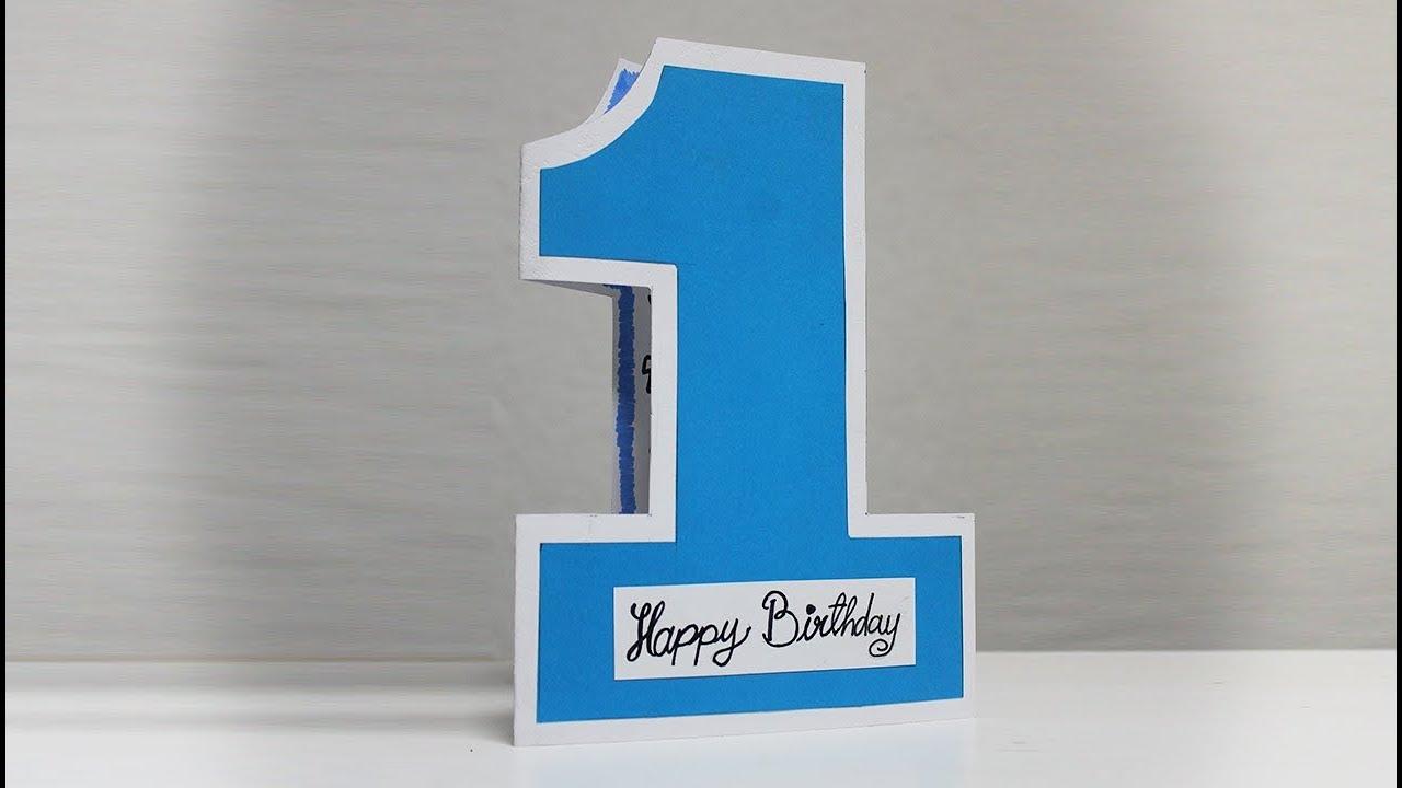 1st Birthday Card for Baby Boy - Birthday Card Making ...