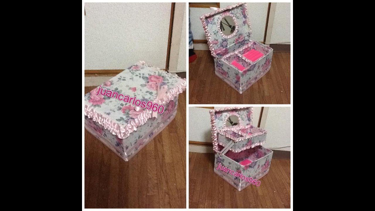 Manualidades alhajero de carton juancarlos960 youtube - Manualidades decorativas para el hogar ...