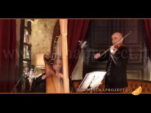 """ALMA PROJECT - FS & SC Harp & Violin Duo - Fratello Sole, sorella Luna (R.Ortolani) """"Dolce sentire"""""""