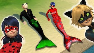 Download THE SIMS 4 Miraculous Ladybug and Cat Noir are MERMAIDS Mp3 and Videos