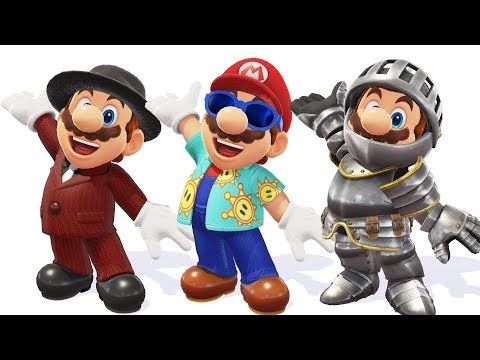 UNLOCKING NEW OUTFITS IN SUPER MARIO ODYSSEY!