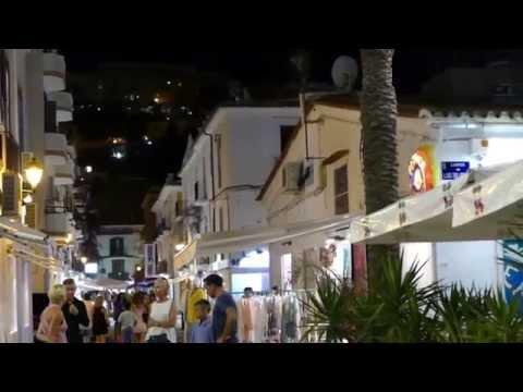 Ibiza old town late at night