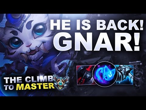 GNAR IS BACK! - Climb to Master S8 | League of Legends thumbnail