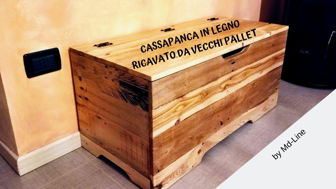 Fai Da Te Cassapanca In Legno.Realizzazione Cassapanca Pallet Pt 1 Youtube