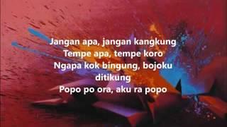 Lirik lagu bojo ketikung