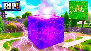 *LEAKED* SALTY SPRINGS DESTROYED BY THE CUBE IN SEASON 6! Fortnite Battle Royale!