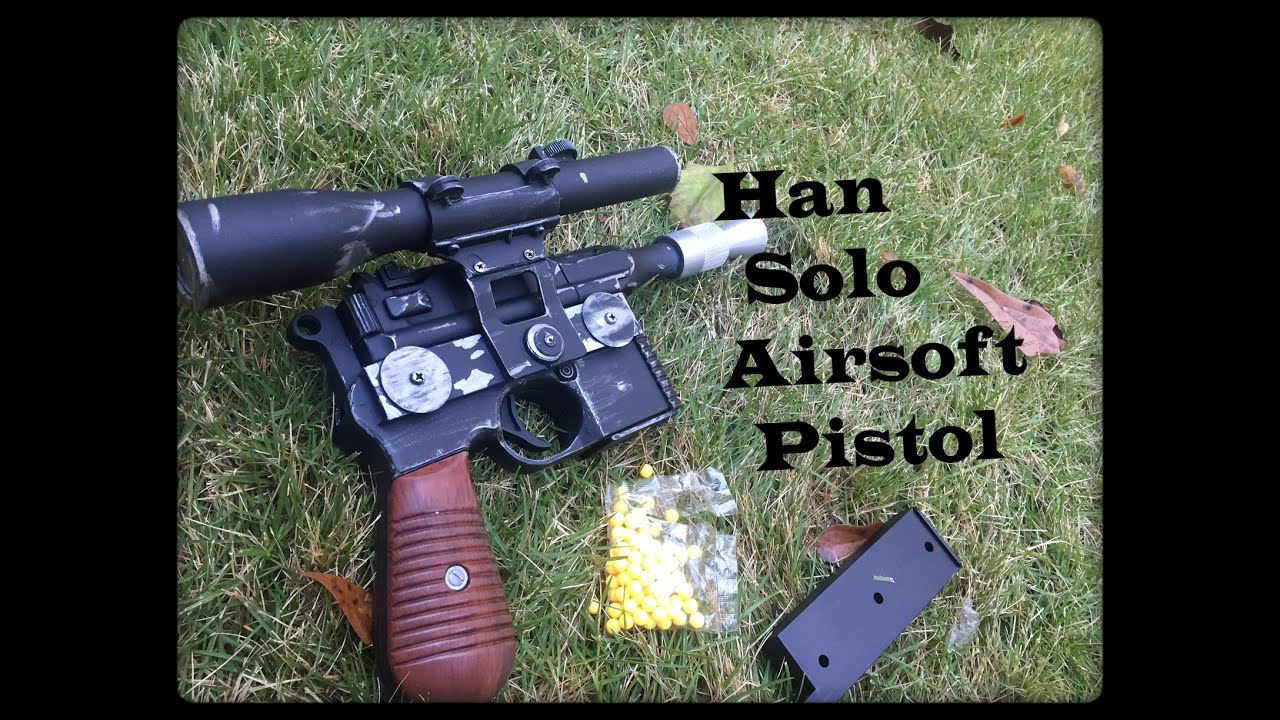 Review: Han Solo Airsoft Pistol ( Star Wars DL-44 Blaster Pistol ...