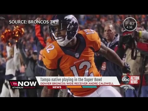 Tampa native, Broncos wide receiver Andre Caldwell, playing in Super Bowl 50