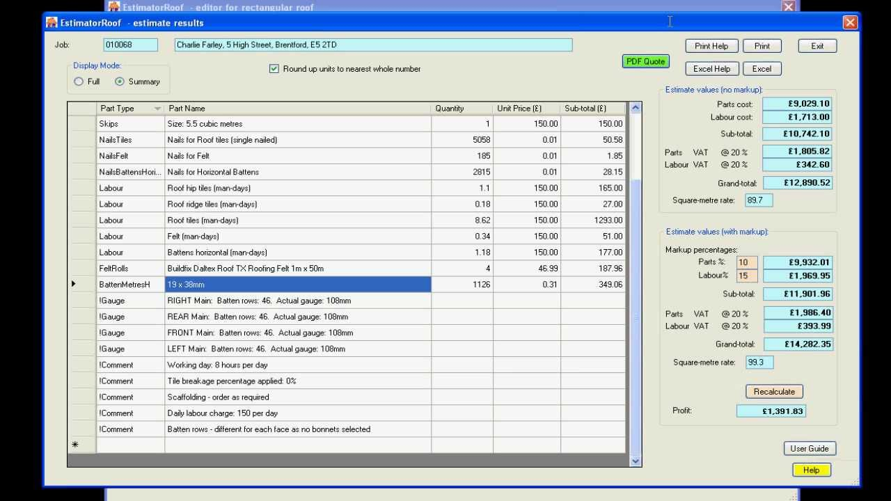 Roofing Estimate Software Boatjeremyeatonco - Contractor estimate and invoice software