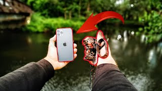 I found an IPhone 11 PRO and STOLEN JEWELRY Scuba Diving under an OLD BRIDGE in the RIVER