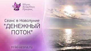 ДЕНЕЖНЫЙ ПОТОК - сеанс в Новолуние. Привлечение денег и удачи. Практика Рейки - меняем убеждения