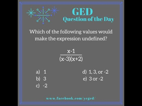 GED QOD: Undefined Expressions