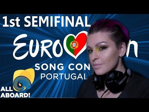 РЕАКЦИЯ 1 ПОЛУФИНАЛ Евровидение 2018 | REACTION  1 SEMIFINAL Eurovision 2018