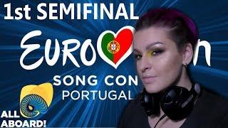 РЕАКЦИЯ 1 ПОЛУФИНАЛ Евровидение 2018   REACTION  1 SEMIFINAL Eurovision 2018