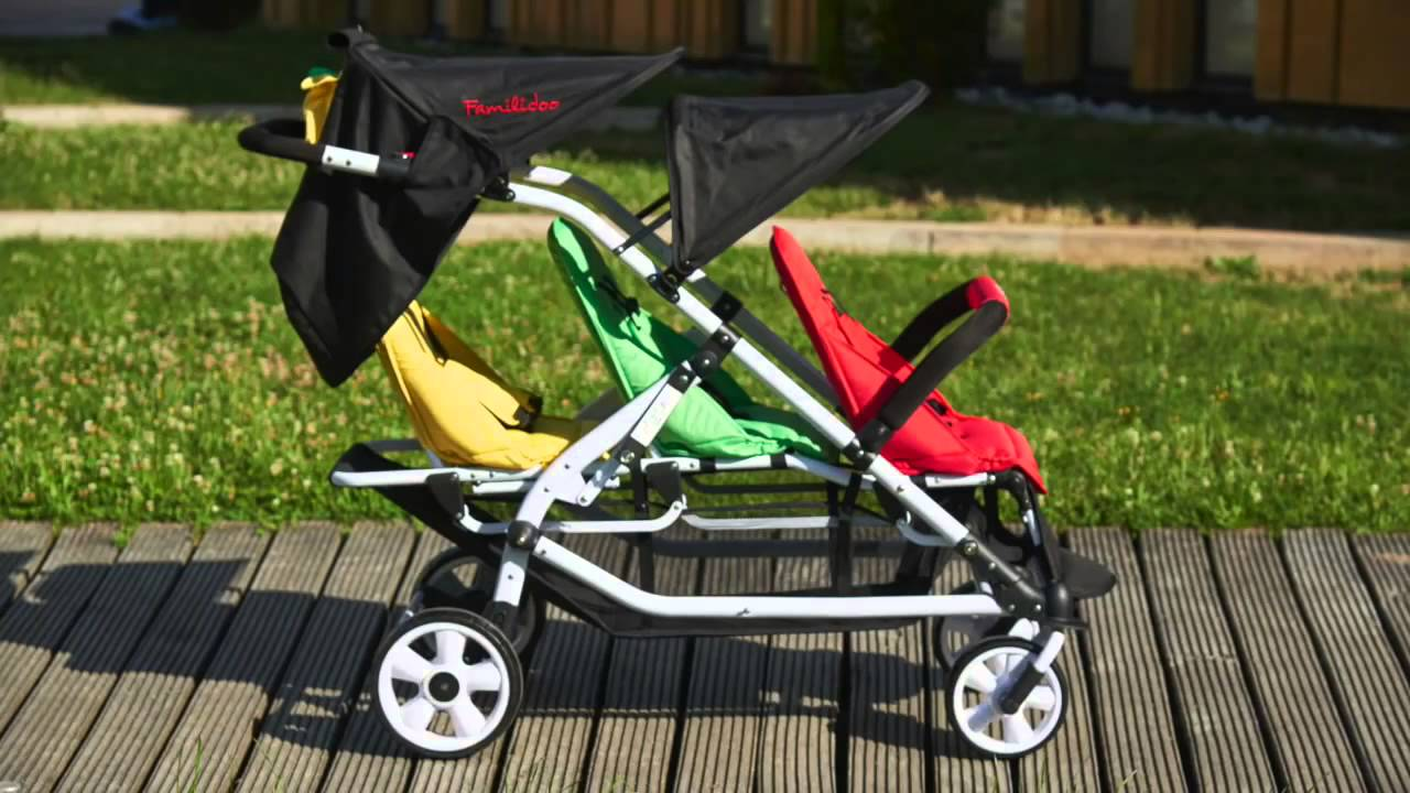 Double Urban Buggy Poussette Triple