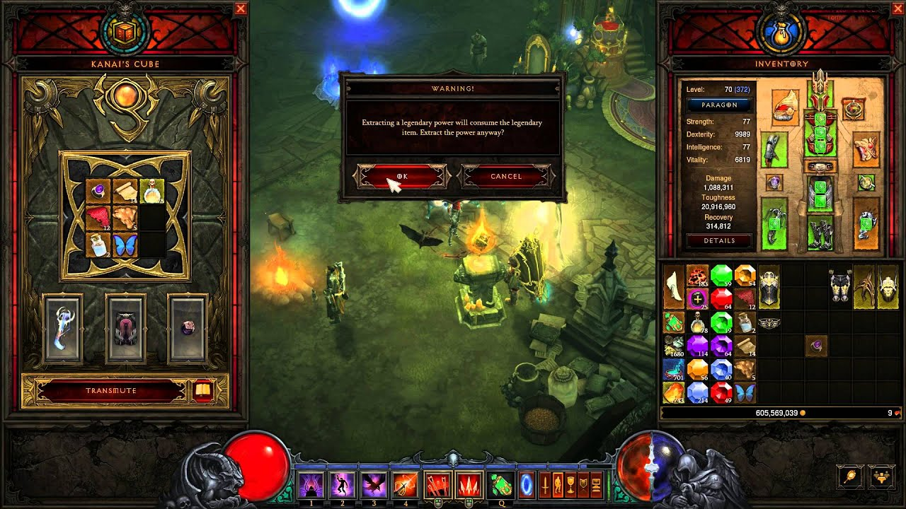 How To Extract Legendary Power From Items Diablo 3 Youtube