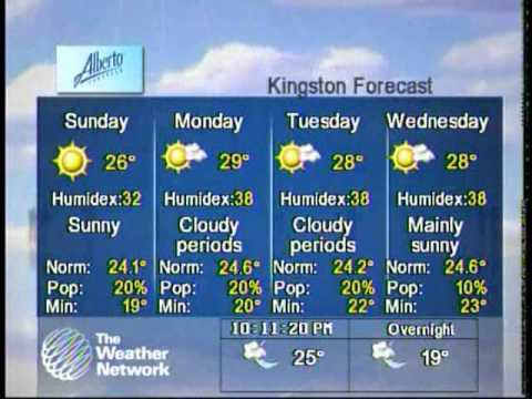 The Weather Network, local conditions segment, Kingston, ON, July 3, 2010