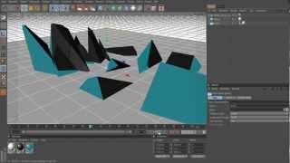 Cinema 4D Tutorial - Zerfallende Objekte - Intro erstellen | [GERMAN] | [HD] |