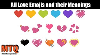 All love Emoji Hearts and their real meaning MUST WATCH | Mind Test Questions