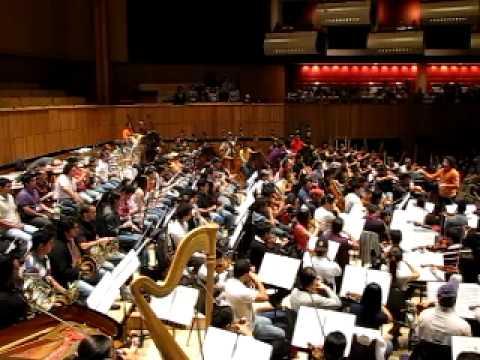 Dudamel, ensayo de la Consagración de la Primavera 1 Sinfónica Simón Bolívar
