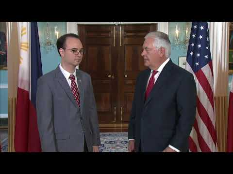 Secretary Tillerson Meets with Filipino Foreign Affairs Secretary Cayetano