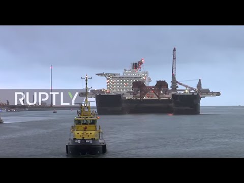 Netherlands: World's largest ship launches from Rotterdam port