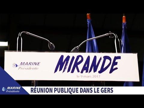 Réunion publique de Marine Le Pen à Mirande (32) I Marine 2017