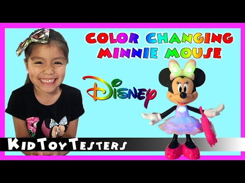disney-jr.-rainbow-dazzle-minnie-mouse-|-kid-toy-review-|-kidtoytesters
