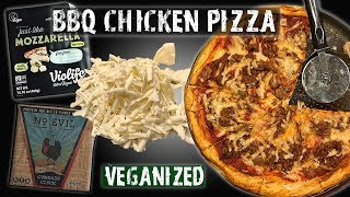 Vegan BBQ Chicken Pizza - Vegan Zombie