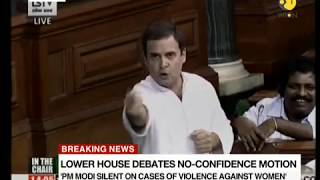 Rahul Gandhi Hugs PM Modi in Lok Sabha