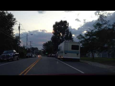 Driving Through Downtown Brasher Falls NY 13613.