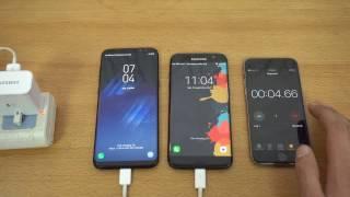 Samsung Galaxy S8 Plus vs S7 Edge! Battery Charging Speed Test! 1080p