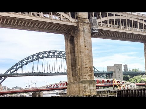 Cycle Ride Newcastle Airport to Tyne Bridges|Cardio Fitness Workout Video