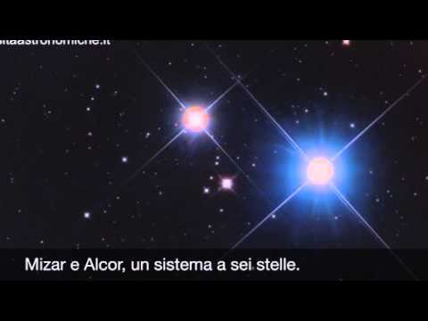 Mizar e alcor un sistema a sei stelle youtube for Mizar youtube