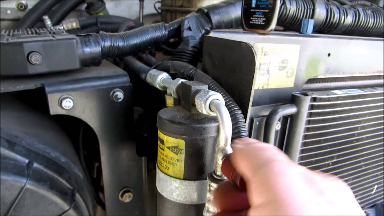 my work truck air conditioning 134A refrigerant added  YouTube
