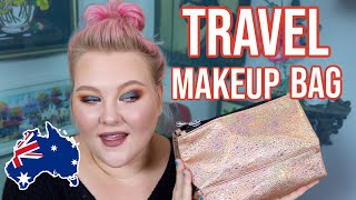Trying Not To Overpack My Travel Makeup Bag! Makeup I Am Bringing To Australia!! | Lauren Mae Beauty